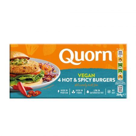 Quorn Vegan Hot & Spicy Burgers 264g