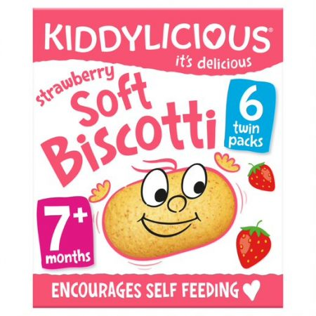 Kiddylicious Soft Biscotti Strawberry