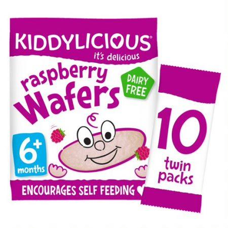 Kiddylicious Wafers Raspberry Maxi Bag 6 Months+(10x4g)