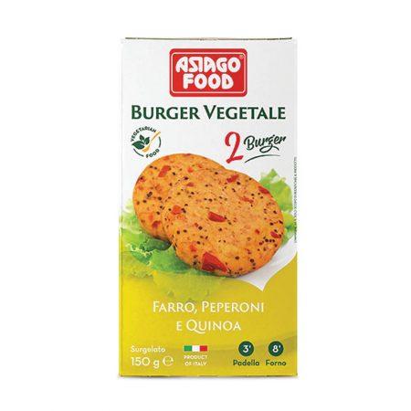 Asiago Veggie Burgers- Spelt, Peppers and Quinoa (Vegan)