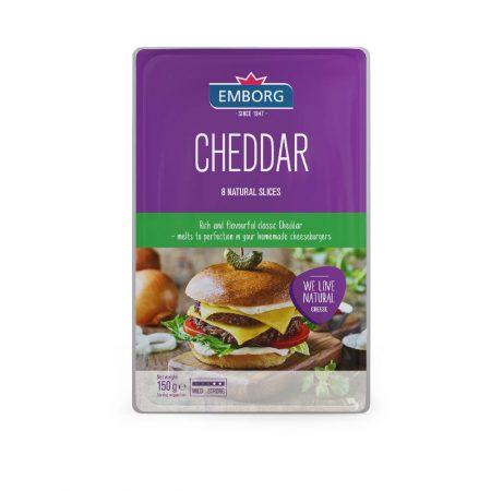 Emborg Sliced Cheddar Cheese 150g