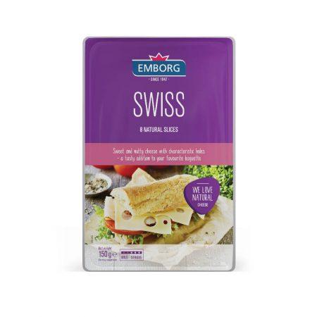 Emborg Swiss Sliced 150g