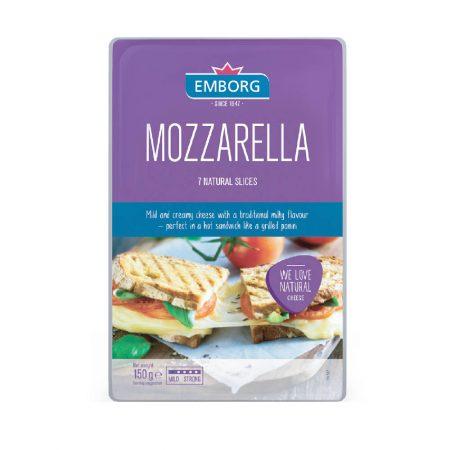 Emborg Mozzarella Sliced 150g