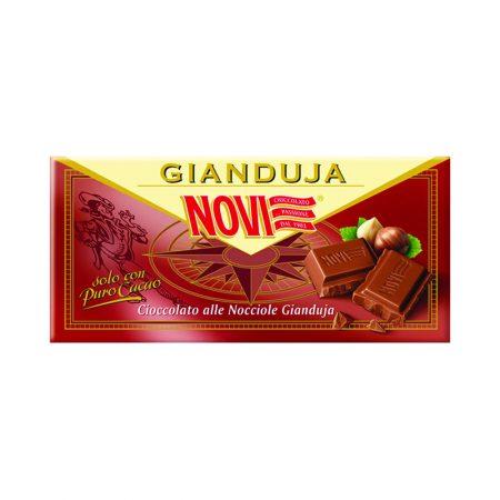 Novi Cioccolato fondente extra con nocciole 100g gianduja hazelnuts