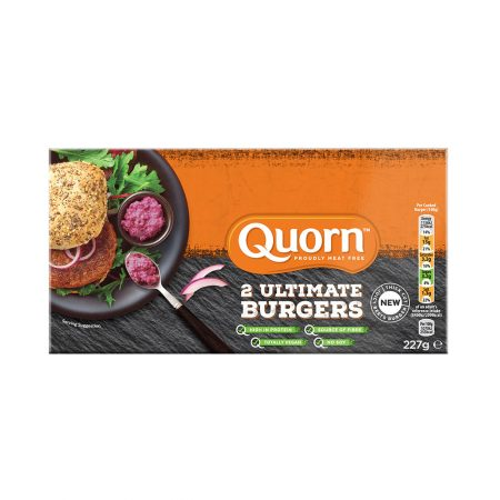 Quorn Vegan Ultimate Burgers (2 Patties)