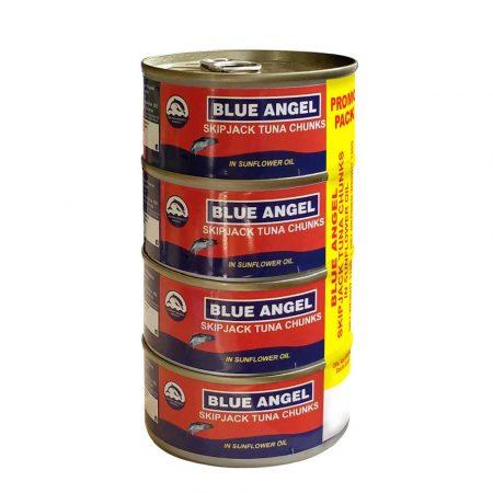 Blue Angel Skipjack Tuna Chunk 4x170Grs
