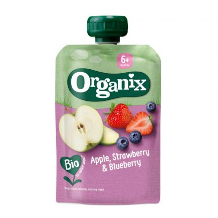 Organix Apple, Strawberry and Blueberry 6M+